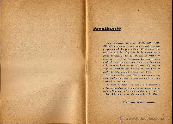 Libros de segunda mano: MI BOLETÍN DE ACTOS POR EL VICEDIRECTOR GENERAL DE LA OBRA - EDICIONES J.M. - VITORIA AÑO 1944 - Foto 3 - 51032805