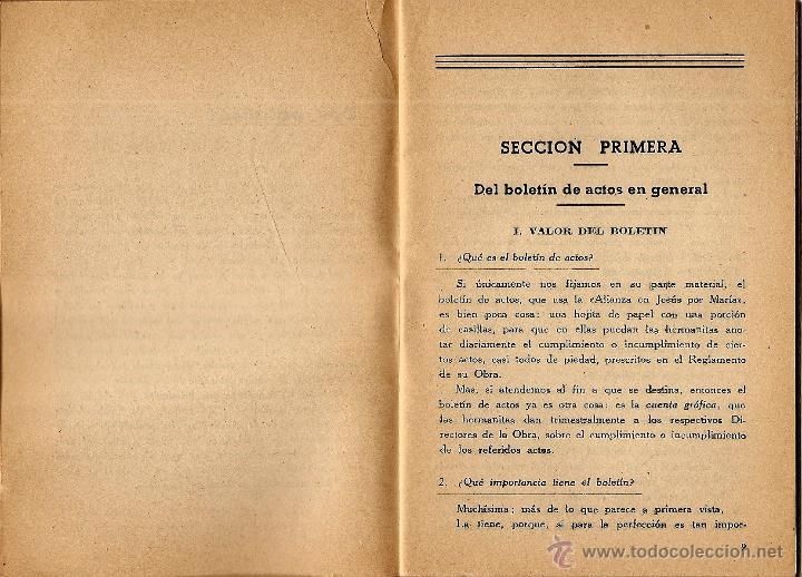 Libros de segunda mano: MI BOLETÍN DE ACTOS POR EL VICEDIRECTOR GENERAL DE LA OBRA - EDICIONES J.M. - VITORIA AÑO 1944 - Foto 4 - 51032805