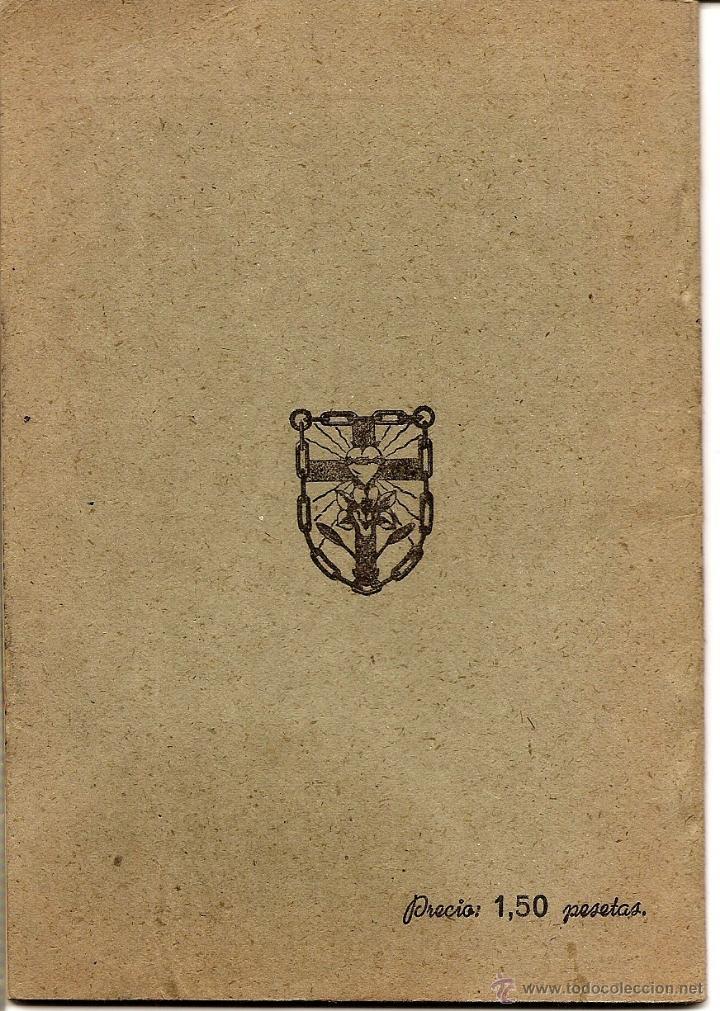 Libros de segunda mano: CEREMONIAL DE LA ALIANZA EN JESÚS POR MARÍA. - VITORIA AÑO 1944 - Foto 3 - 51032987