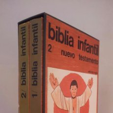 Libros de segunda mano: BIBLIA INFANTIL. NUEVO TESTAMENTO. ESTUCHE CON 2 VOLS. EDITORIAL REGINA. Lote 147965104