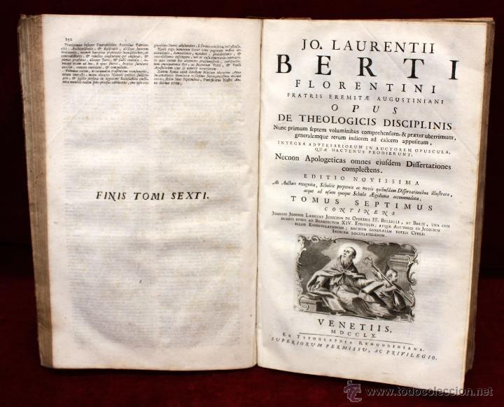 Libros de segunda mano: JO. LAURENTII BERTI...OPUS DE THEOLOGICIS DISCIPLINIS. TOMO VI. 1760. LIBRO RELIGION EN LATIN. - Foto 6 - 51260783