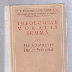 Libros de segunda mano: THEOLOGIAE MORALIS SUMMA. II. DE MANDATIS DEI ET ECCLESIAE. BIBLIOTECA AUTORES CRISTIANOS. 1953. Lote 80774874