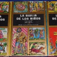 Libros de segunda mano: LA BIBLIA DE LOS NIÑOS - ILUSTRADA POR PIET WORM - PLAZA & JANES (1962). Lote 79041211
