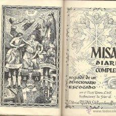 Libri di seconda mano: MISAL DIARIO Y DEVOCIONARIO - 1954. Lote 51875087