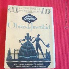 Libros de segunda mano: OBRAS DE JUVENTUD - OBRAS COMPLETAS I - P. LUIS COLOMA S.L.. Lote 52383467
