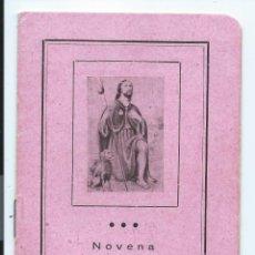 Libros de segunda mano: LIBRITO. NOVENA AL GLORIOSO SAN ROQUE. LIBRERIA CASA MARTÍN, VALLADOLID. 16 PÁG. 8,5 X 12,2 CMS.. Lote 52475001
