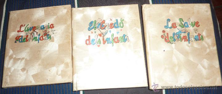 LOTE 3 LIBROS L'AVE MARIA , LA SALVE , EL CREDO ED CERVANTES 1956 DELS INFANTS 10 / 8 CM PARA NIÑOS (Libros de Segunda Mano - Religión)