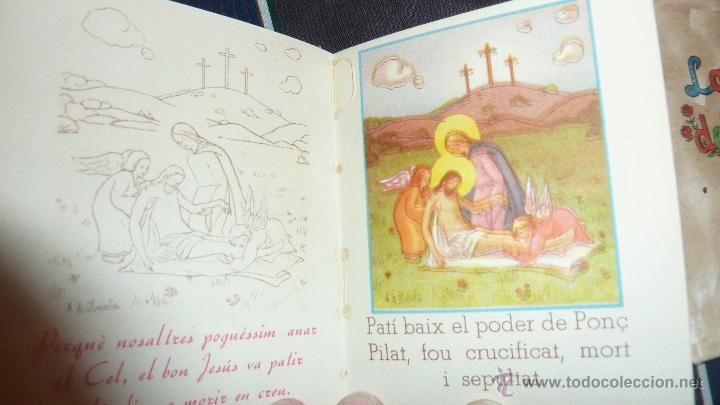 Libros de segunda mano: lote 3 libros lave maria , la salve , el credo ed cervantes 1956 dels infants 10 / 8 cm para niños - Foto 2 - 52562236