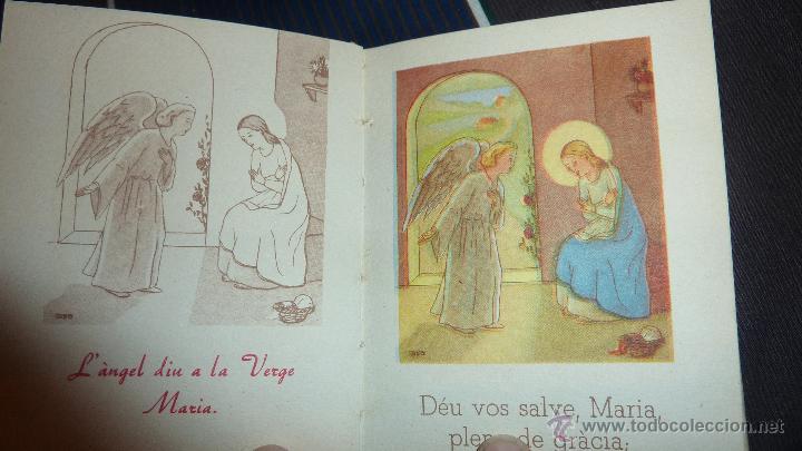 Libros de segunda mano: lote 3 libros lave maria , la salve , el credo ed cervantes 1956 dels infants 10 / 8 cm para niños - Foto 3 - 52562236
