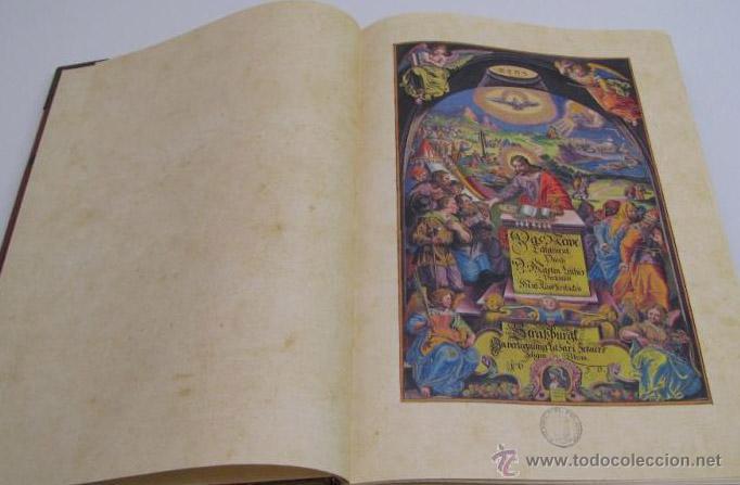 PRECIOSO FACSÍMIL DE LA BIBLIA DE LUTERO DE 1630, GRAN FORMATO (Libros de Segunda Mano - Religión)
