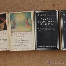 Libros de segunda mano: SACRAE THEOLOGIAE SUMMA. NICOLAU (MICHAELE), SALAVERRI (IOACHIM), DALMAU (IOSEPHO M.), SAGÜÉS, (IOSE. Lote 52716295