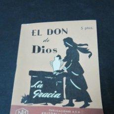 Libros de segunda mano: EL DON DE DIOS. LA GRACIA. EDITORIAL SAL TERRAE. Lote 52720341