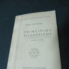 Libros de segunda mano: PRINCIPIOS FILOSOFICOS (PRIMER CURSO). Lote 52720383