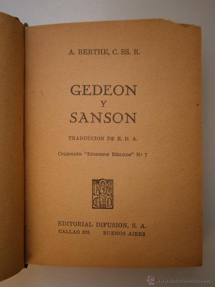 Libros de segunda mano: GEDEON Y SANSON Berthe Difusion 1947 EPISODIOS BIBLICOS 7 - Foto 10 - 52871014