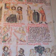 Libros de segunda mano: FACSÍMIL ÍNTEGRO DE LA BIBLIA PAUPERUM O BIBLIA DE LOS POBRES (S. XIV) + ESTUDIO EN CASTELLANO. Lote 113235528