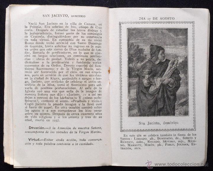 Libros de segunda mano: AÑO CRISTIANO, MES DE AGOSTO DEDICADO A LA ASUNCIÓN DE MARÍA SANTÍSIMA - AÑO 1944 - Foto 5 - 53138599