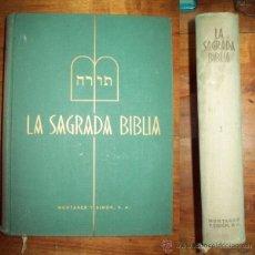 Libros de segunda mano: LA SAGRADA BIBLIA. TOMO I : ANTIGUO TESTAMENTO : PENTATEUCO ; LIBROS HISTÓRICOS. Lote 53349445
