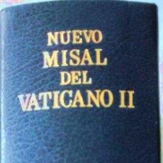 Libros de segunda mano: MISAL DEL VATICANO II. ED. DESCLEÉ DE BROUWER. ED. MENSAJERO. 9 ED. 2003. TAPA DURA AZUL.NUEVO. Lote 77327281