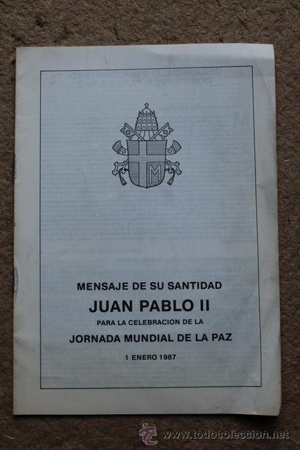 MENSAJE MDE SU SANTIDAD JUAN PABLO II PARA LA CELEBRACIÓN DE LA JORNADA MUNDIAL DE LA PAZ. (Libros de Segunda Mano - Religión)
