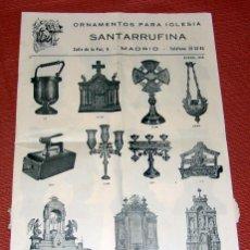 Livres d'occasion: ANTIGUO CATALOGO DE ORNAMENTOS PARA IGLESIA AÑO 1956. Lote 53697685