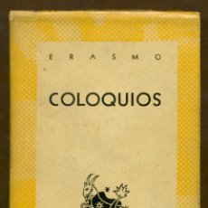Libros de segunda mano: COLECCION AUSTRAL - COLOQUIOS - ERASMOS. Lote 53751597