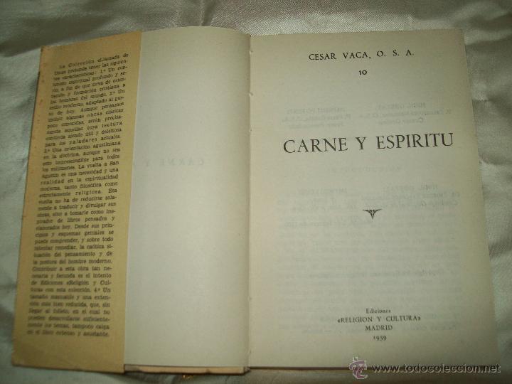 Libros de segunda mano: Carne y Espiritu - Foto 2 - 243687620