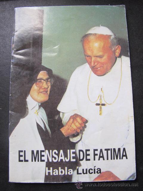 LIBRO FOLLETO EL MENSAJE DE FÁTIMA (Libros de Segunda Mano - Religión)