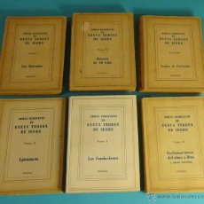 Libros de segunda mano: OBRAS COMPLETAS DE SANTA TERESA DE JESÚS. 6 TOMOS. EDITORIAL DIFUSIÓN. BUENOS AIRES. 1948 - 1952. Lote 54251274