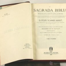 Libros de segunda mano: 7138 - LA SAGRADA BIBLIA,TOMO I. FÉLIX TORRES AMAT. EDI. HISPANO AMERICANA. 1953.. Lote 53122000