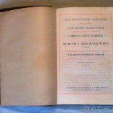 Libros de segunda mano: TRIDUO ANTE PASCHA ET DOMINICA RESURRECTIONIS. Lote 54808616