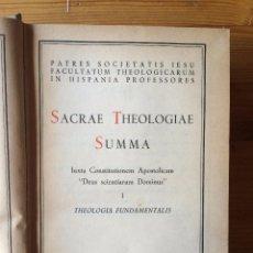 Libros de segunda mano: SACRAE THEOLOGIAE SUMMA - TOMO I - B.A.C. - 1952. Lote 54876468