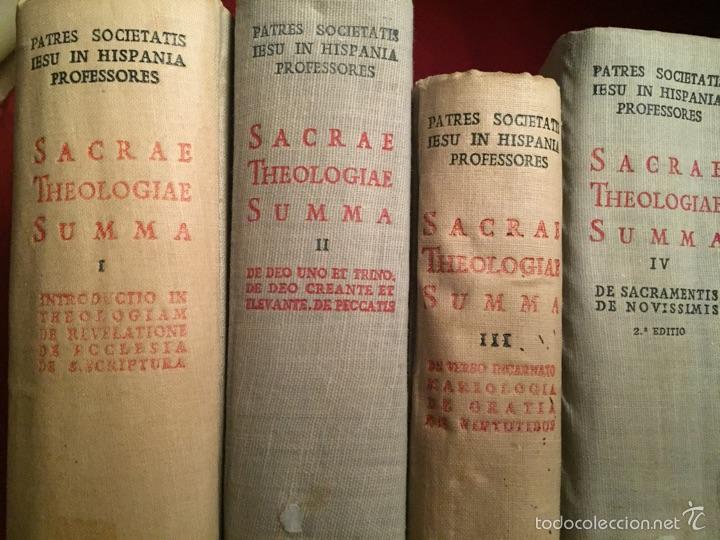 4 VOLÚMENES THEOLOGIAE SACRAE SUMMA - BIBLIOTECA DE AUTORES CRISTIANOS BAC (Libros de Segunda Mano - Religión)