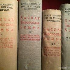 Libros de segunda mano: 4 VOLÚMENES THEOLOGIAE SACRAE SUMMA - BIBLIOTECA DE AUTORES CRISTIANOS BAC. Lote 160829501