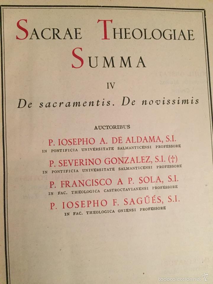 Libros de segunda mano: 4 volúmenes Theologiae sacrae Summa - Biblioteca de Autores Cristianos BAC - Foto 2 - 160829501