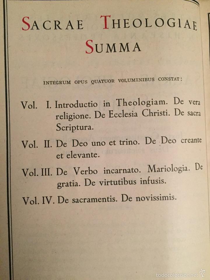 Libros de segunda mano: 4 volúmenes Theologiae sacrae Summa - Biblioteca de Autores Cristianos BAC - Foto 3 - 160829501