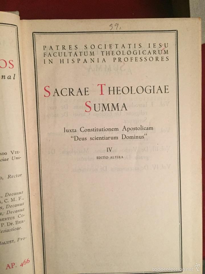 Libros de segunda mano: 4 volúmenes Theologiae sacrae Summa - Biblioteca de Autores Cristianos BAC - Foto 5 - 160829501