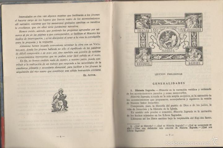 Libros de segunda mano: HISTORIA SAGRADA *** SEGUNDO GRADO *** EDITORIAL LUIS VIVES 1951 - Foto 2 - 56502153