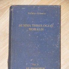 Libros de segunda mano: SUMMA THEOLOGIAE MORALIS. NOLDIN-SCHMITT. TOMO 1. 1945 LATÍN.. Lote 56657211