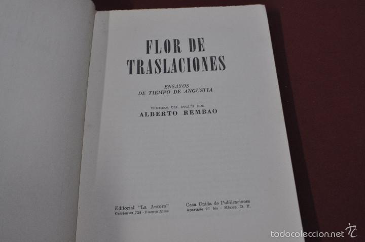 Libros de segunda mano: flor de traslaciones ensayos de tiempo de angustia - alberto rembao - RE37 - Foto 3 - 56742419
