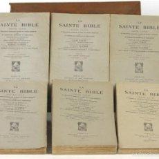 Libros de segunda mano: 7557 - LA SAINTE BIBLE. 6 TOMOS(VER DESCRIP). EDIT. LETOUZEY ET ANÉ. 1943-1953.. Lote 57084609