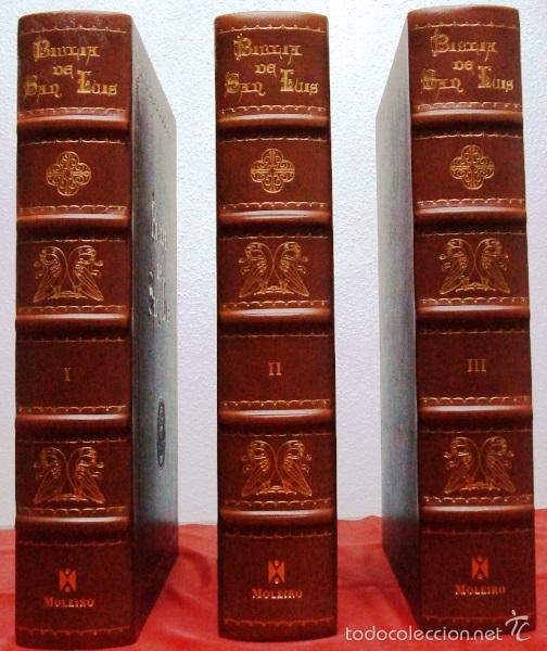 BIBLIA DE SAN LUIS, SIGLO XIII, LA BIBLIA DE REYES A SU ALCANCE. FACSÍMIL. MOLEIRO (Libros de Segunda Mano - Religión)