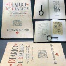 Libros de segunda mano: AÑO 1951.- DIARIO DE DIARIOS.-ESTEBAN BUSQUETS MOLAS.- SAGRADAS ESCRITURAS VISTAS POR UN PERIODISTA. Lote 30060029