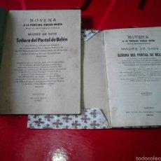 Libros de segunda mano: NOVENA SEÑORA DEL PORTAL DE BELEN IMAGEN SE VENERA EN EL COLEGIO PP.MISIONERO VILLAVICIOSA ASTURIAS. Lote 57490788