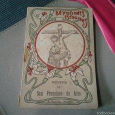 Libros de segunda mano: DEVOCIONES ESCOGIDAS NOVENA A SAN FRANCISCO DE ASIS SATURNINO CALLEJA . Lote 57493454