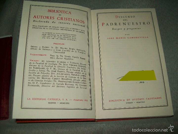 Libros de segunda mano: Discurso del Padrenuestro. JM. Cabodevilla. BAC, nº 319. 1971. - Foto 3 - 57537191