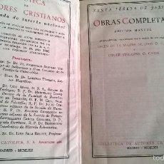 Libros de segunda mano: OBRAS COMPLETAS, SANTA TERESA DE JESÚS, BAC. Lote 57691979