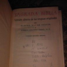 Libros de segunda mano: SAGRADA BIBLIA . Lote 57813083