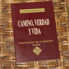 Libros de segunda mano: CAMINO, VERDAD Y VIDA, P CÉSAR NAVARRETE SJ. Lote 57841525