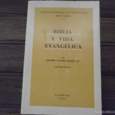Libros de segunda mano: BIBLIA Y VIDA EVANGÉLICA. Lote 58077384