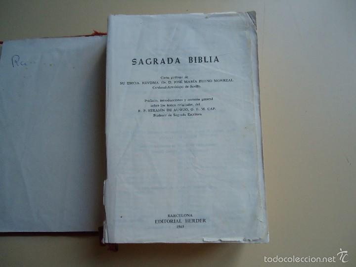 LIBRO SAGRADA BIBLIA PROLOGO DE SU EMINENCIA DR. D. JOSÉ MARÍA BUENO MONREAL (Libros de Segunda Mano - Religión)